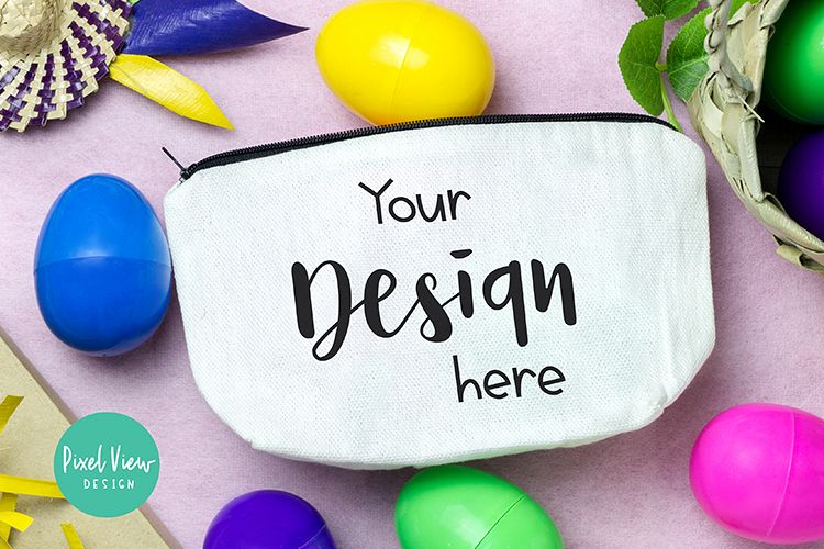 Pouch Wallet Mock up| Easter example image 1