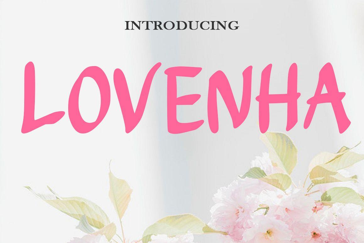 Lovenha - Font example image 1