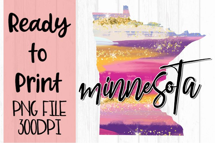 Minnesota Painted States Ready to Print example image 1