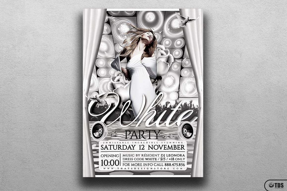 White Party Flyer Template V1 example image 1