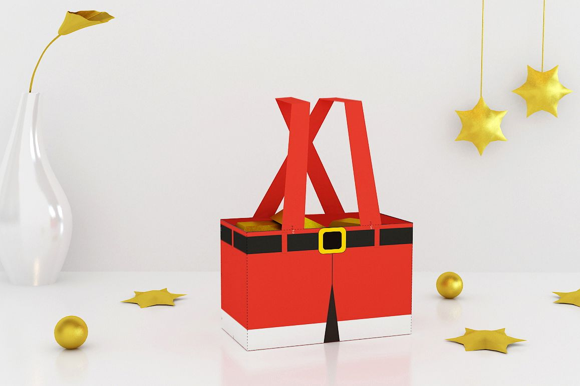 DIY Santa Pants Favor - 3d papercraft example image 1