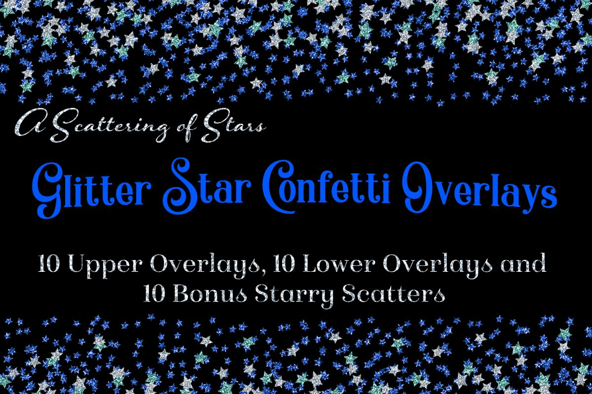 Glitter Star Confetti Overlays - A Scattering of Stars example image 1