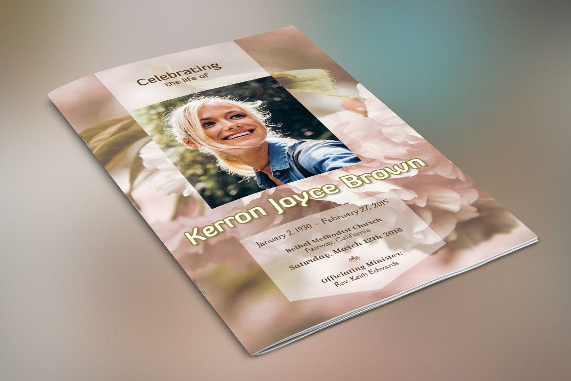 Adventure Small Funeral Program Template example image 1