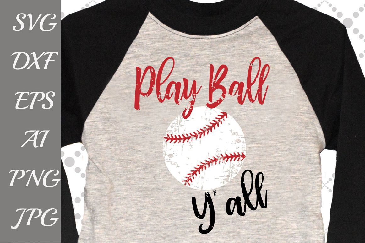 Play Ball Y'all Svg example image 1
