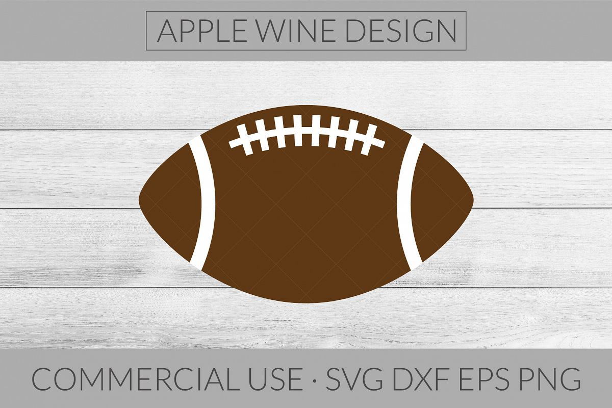 Football SVG DXF PNG EPS Cutting File example image 1