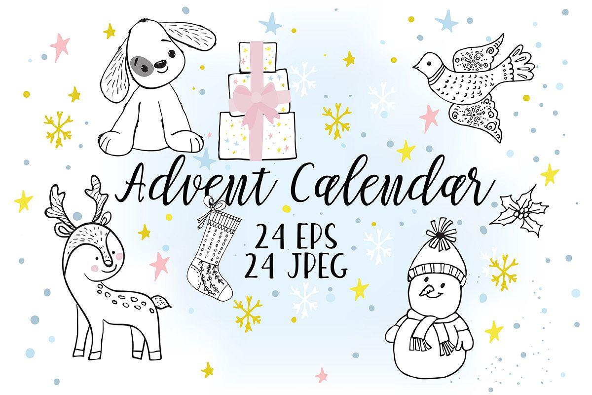 Advent Calendar Kit Christmas Printable Journal Cards 24 Numbered ...