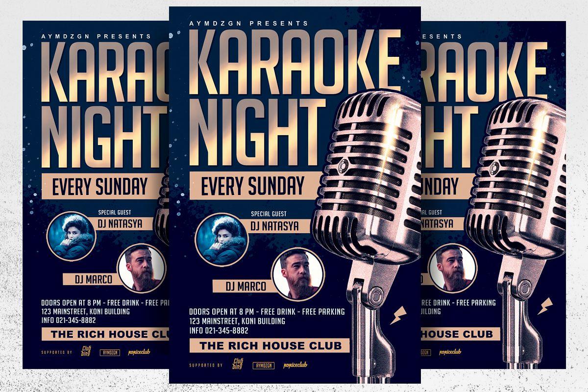 Karaoke Night Flyer example image 1