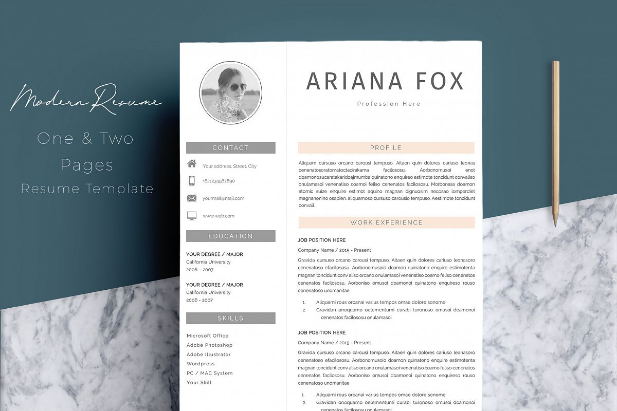 Creative Chic Resume Template Design
