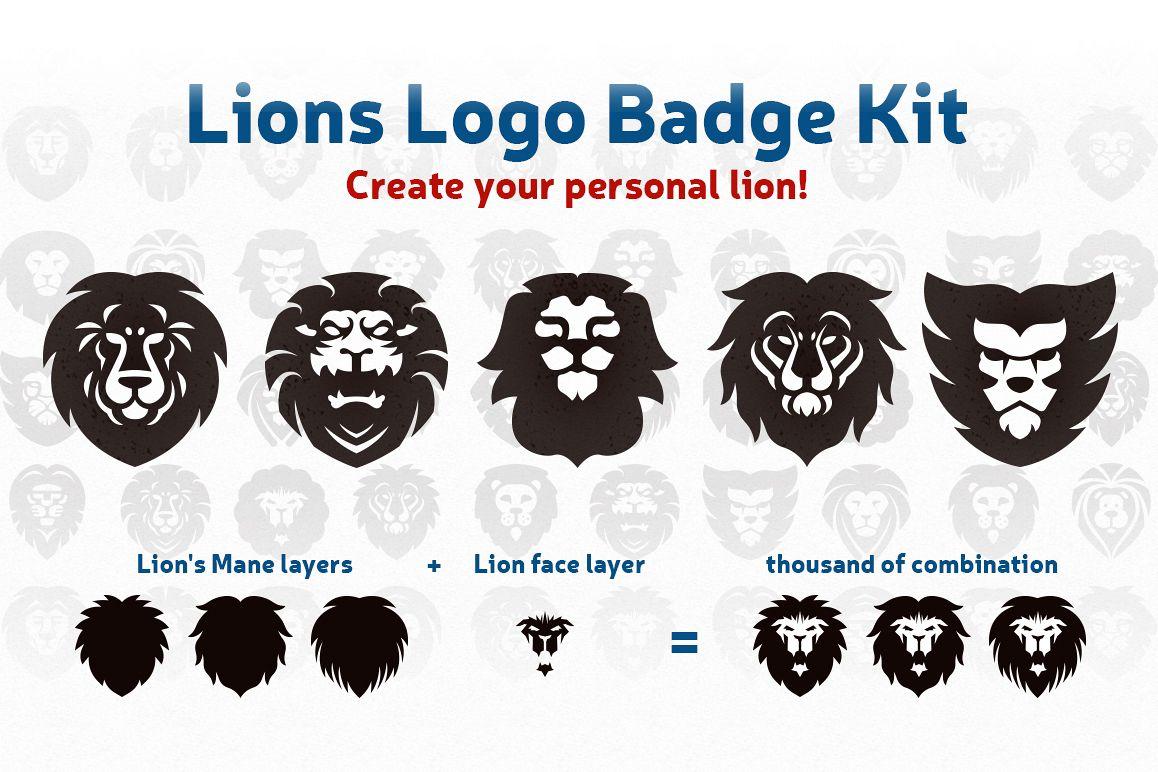 Lions Logo Badge Kit example image 1