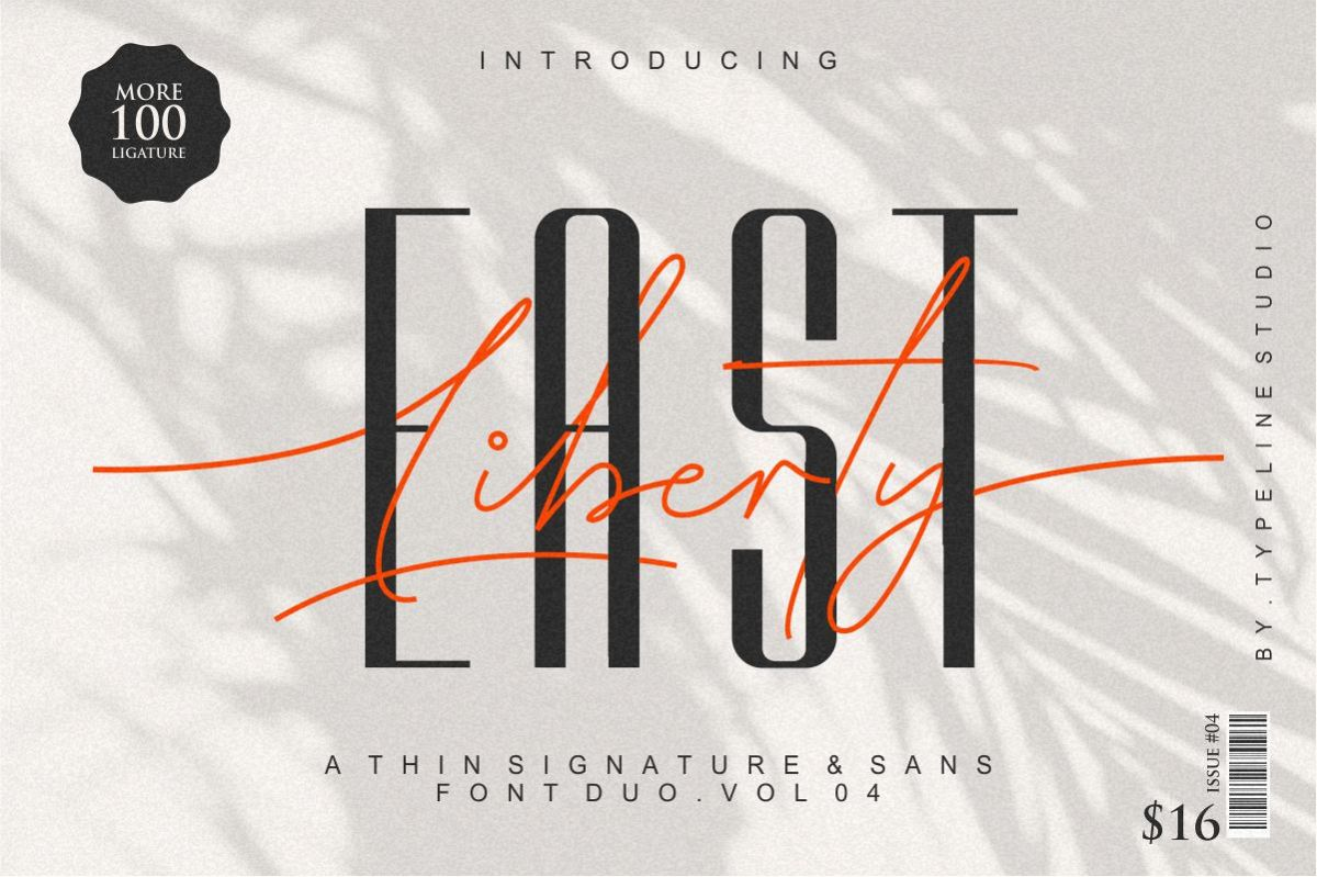 East liberty | Signature & sans serif example image 1