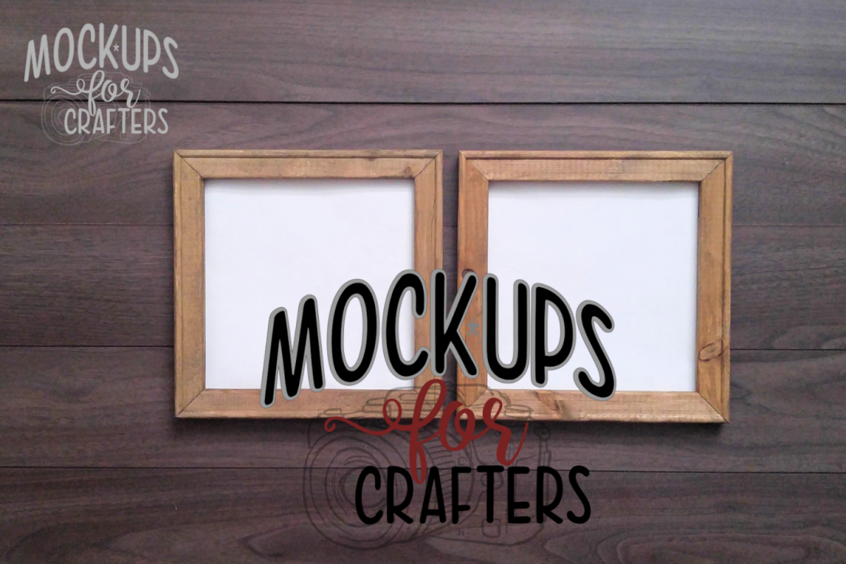 REVERSE CANVAS MOCK-UP - Two 10 inch mock-ups side by side example image 1