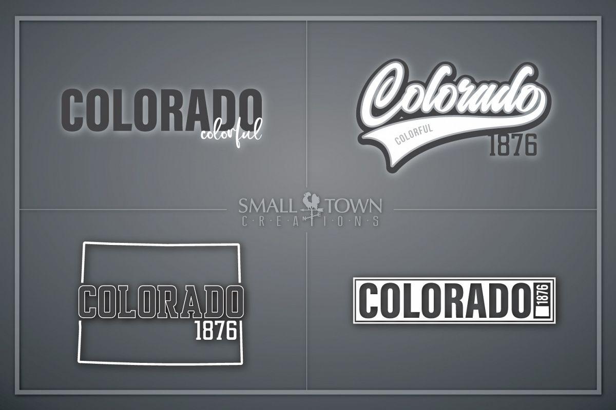 Colorado, Colorful - state slogan, Logo, PRINT, CUT & DESIGN example image 1