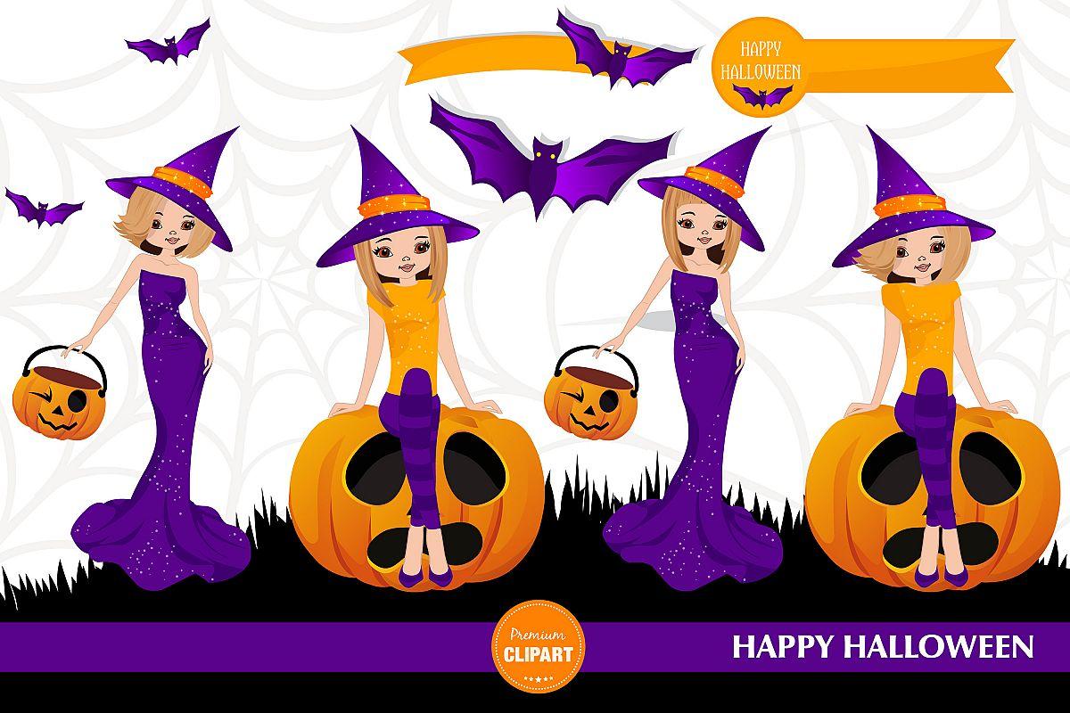 Halloween pumpkin, Halloween illustrations, Halloween girl example image 1
