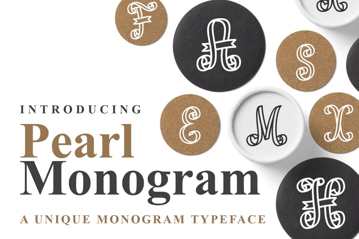 Pearl Monogram example image 1