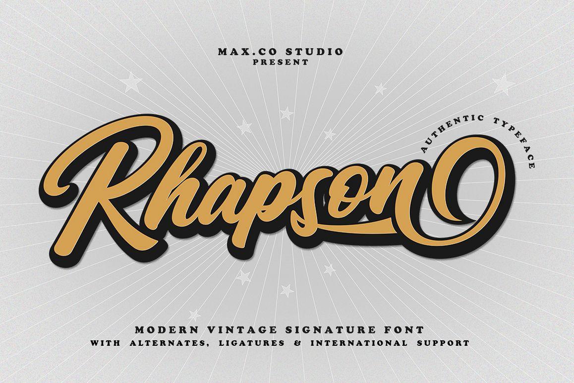 Rhapson Script Font example image 1