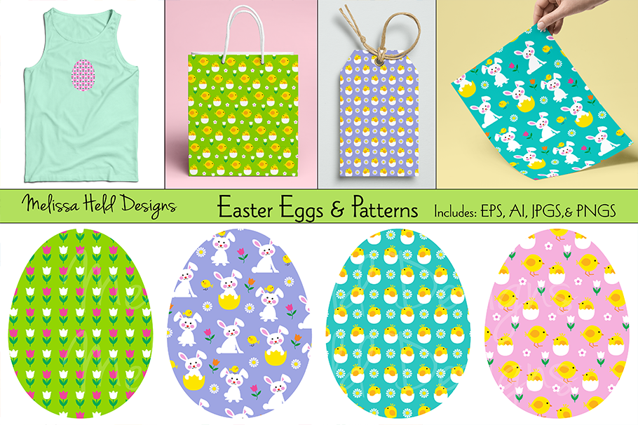 Easter Eggs & Patterns example image 1