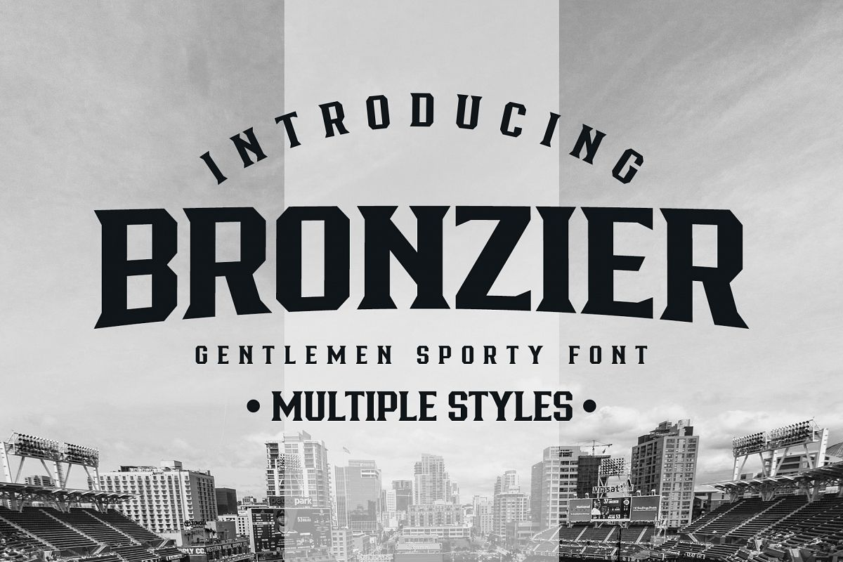 Bronzier Font Family example image 1