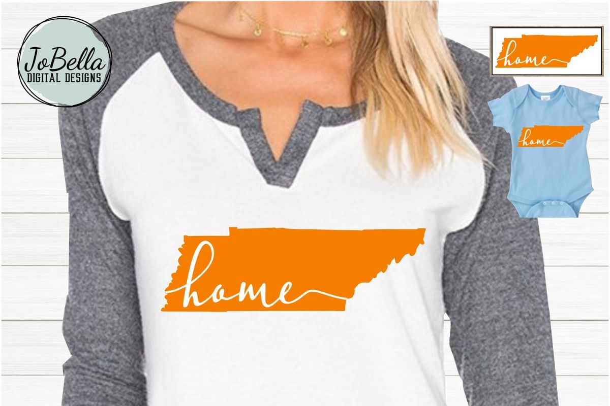 Orange Tennessee with Home SVG and Printable example image 1