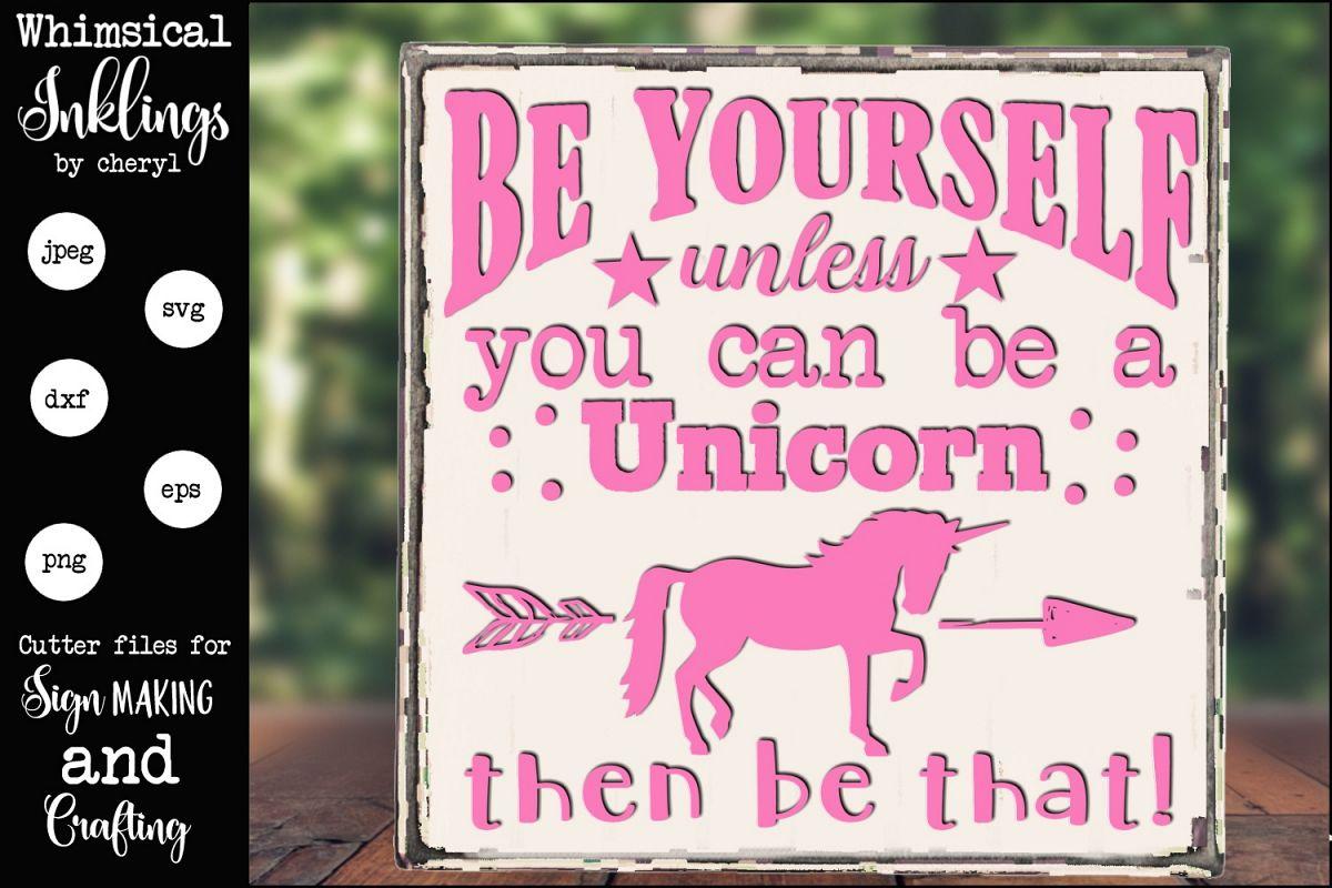 Always Be A Unicorn SVG example image 1