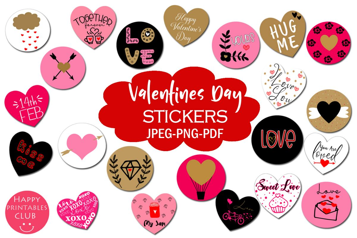 Valentines Day Stickers- Cute Stickers Valentines Day example image 1