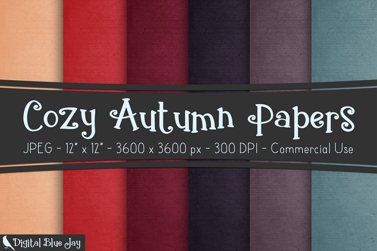 Digital Paper Textured Backgrounds - Cozy Autumn example image 1