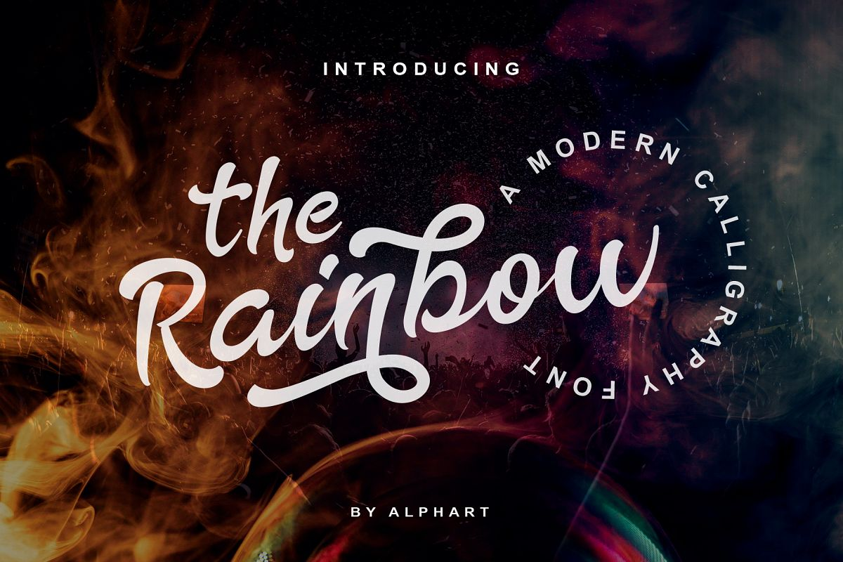 The Rainbow - modern calligraphy font example image 1