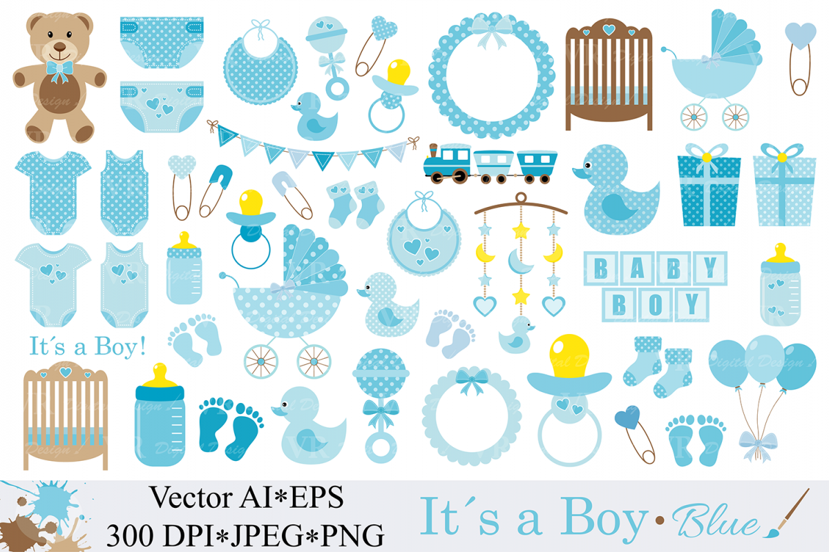baby boy clipart blue baby shower clipart nursery clip art it`s a
