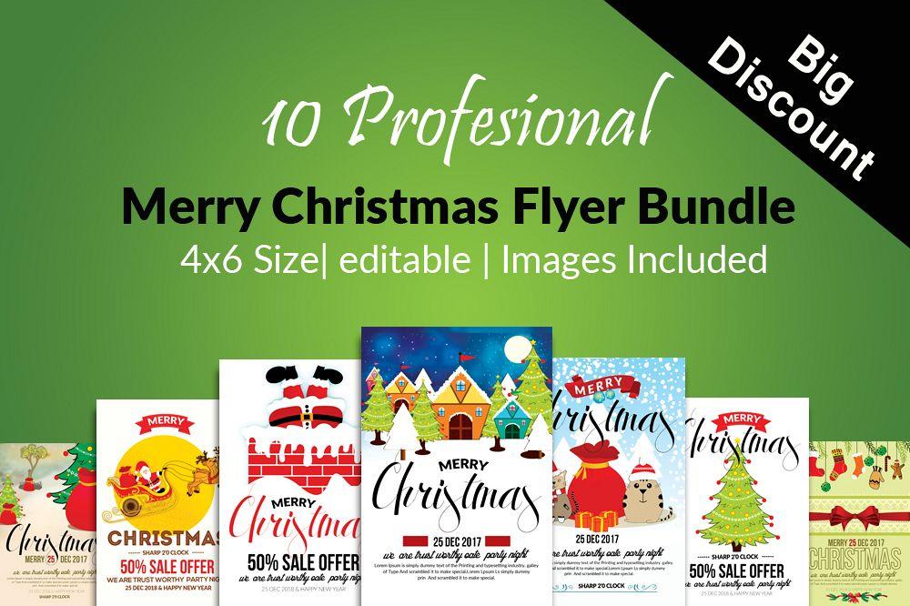 Christmas Flyers.10 Merry Christmas Flyers Bundle