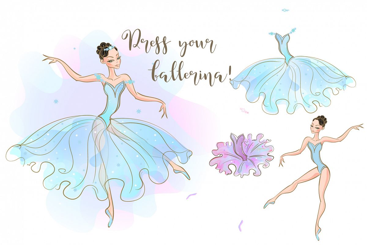 Ballerina doll with a set of dresses. example image 1