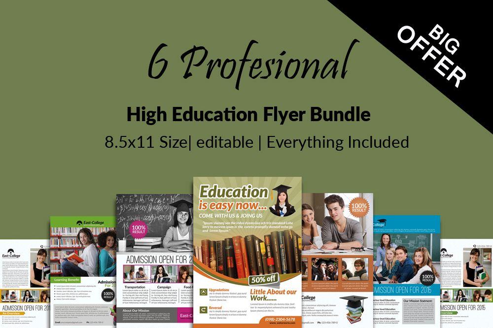6 School Education Flyers Bundle example image 1