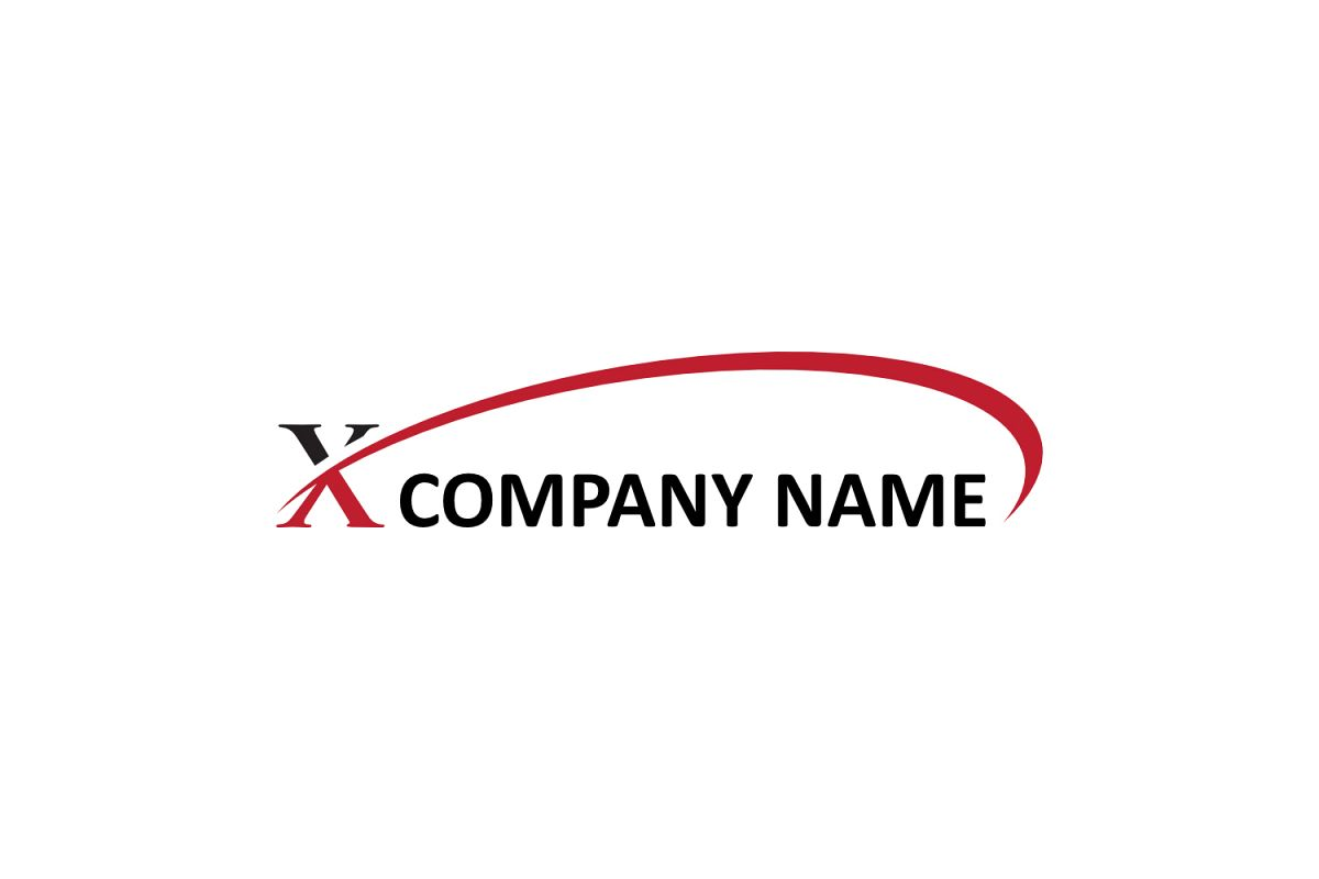 x letter swoosh logo example image 1