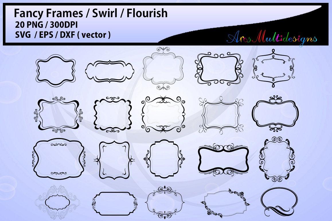 Fancy frames SVG/ fancy labels SVG / frames EPS/ borders / label digital set / borders / backgrounds / frames cut file / empty label frame example image 1
