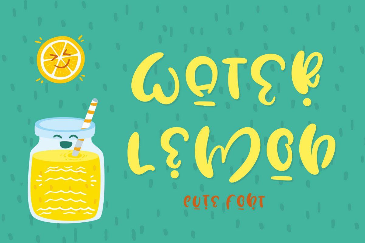 Water Lemon cute font example image 1