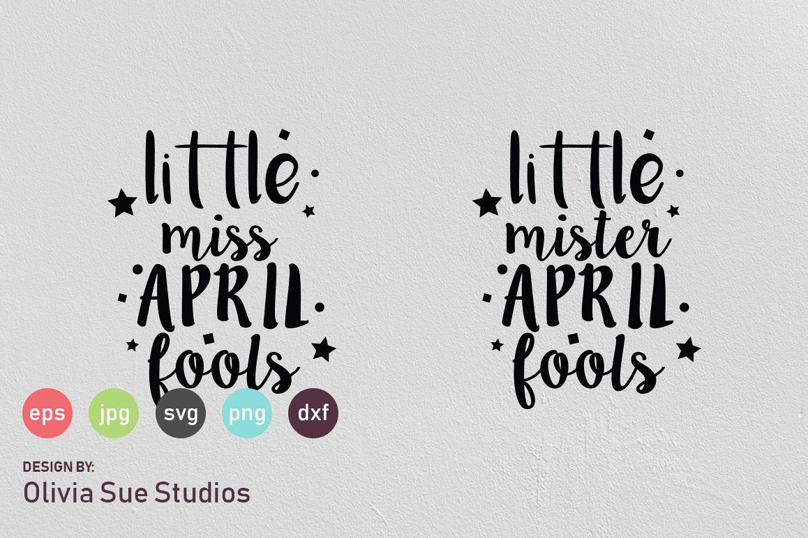 Little April Fools SVG Cut File example image 1