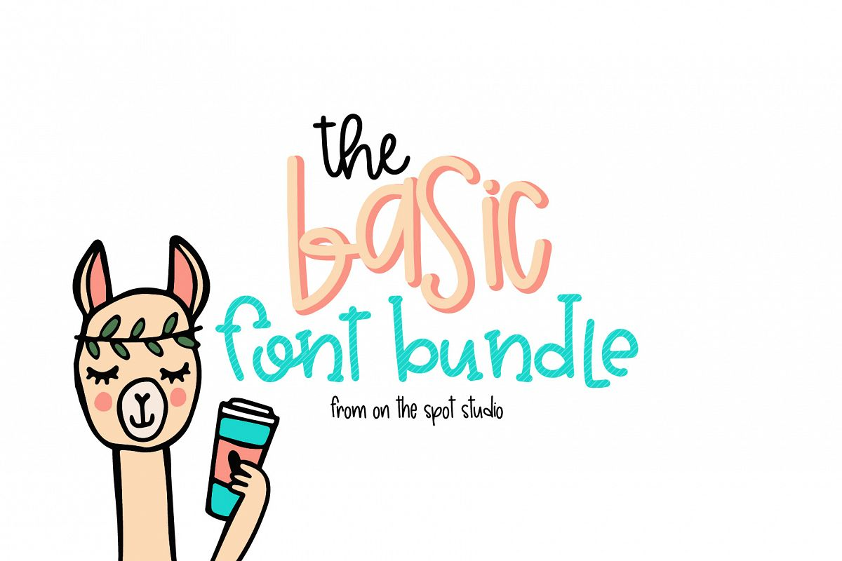 The Basic Font Bundle example image 1