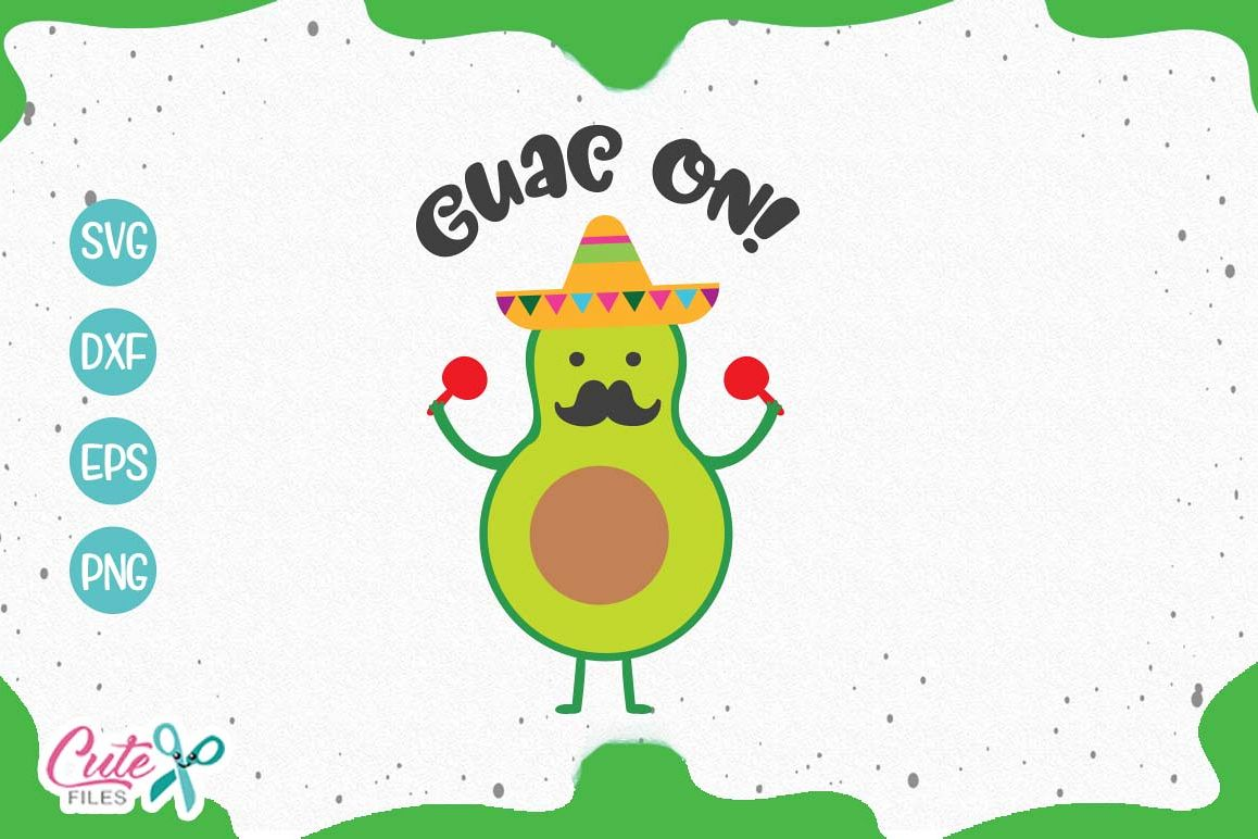Guaca on svg, mexican food cuts files for crafter example image 1