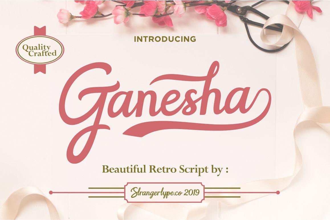Ganesha - Wedding Font example image 1