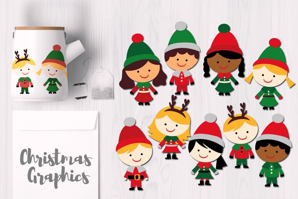 Christmas Kids Illustrations example image 1