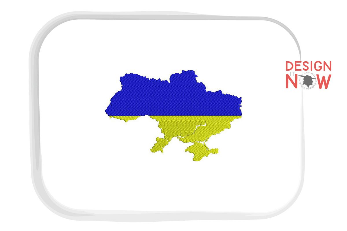 Flag Of Ukraine Embroidery Design, Map Embroidery example image 1