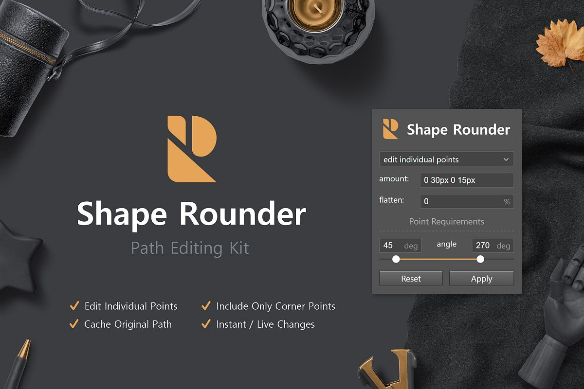 Shape Rounder - Path Editing Kit example image 1