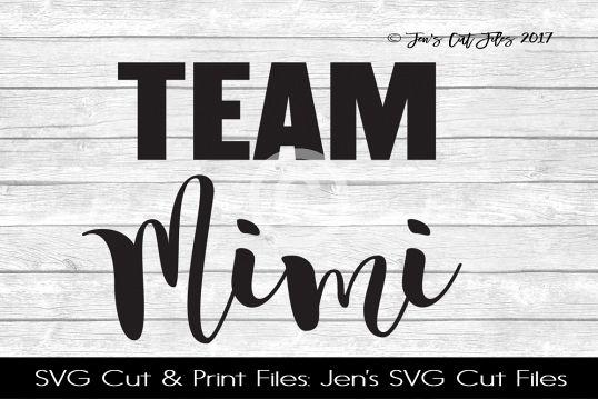 Team Mimi SVG Cut File example image