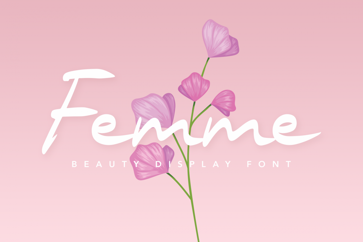 Femme Beauty Display Font example image 1
