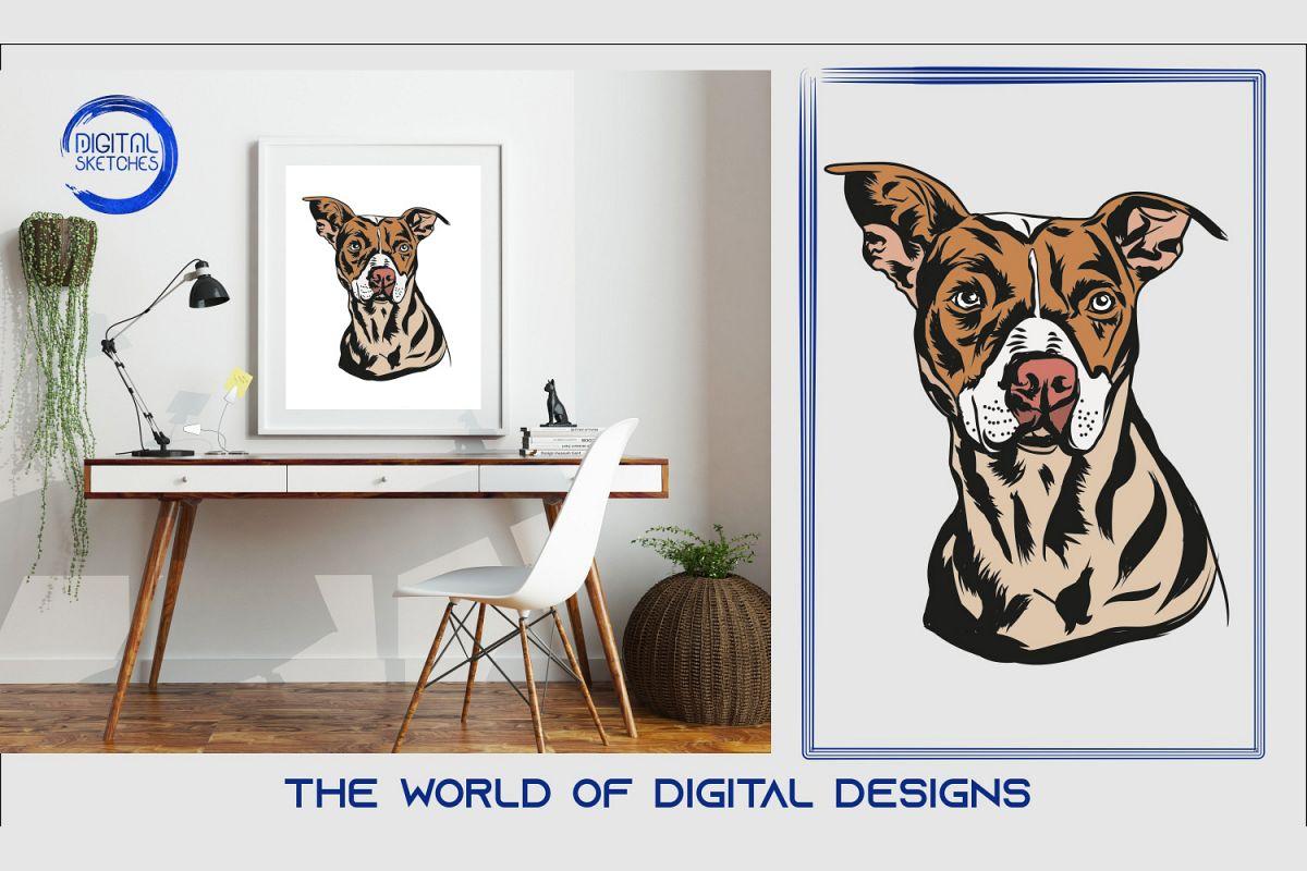 Printable Art Dog Portrait Wall Art, .PDF Print Poster example image 1
