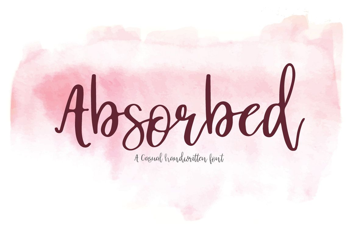 Absorbed | Script Font example image 1