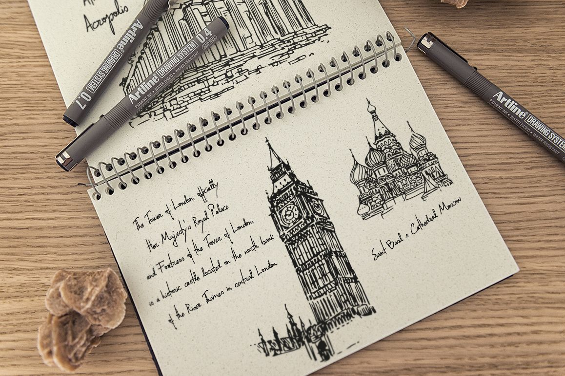 The Wonders of the World - Hand draw example image 1