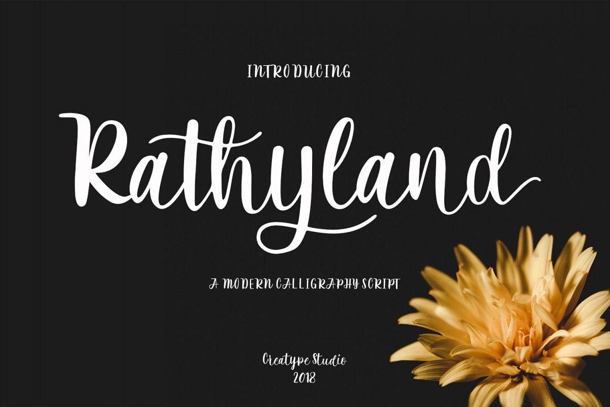 Rathyland Script example image 1