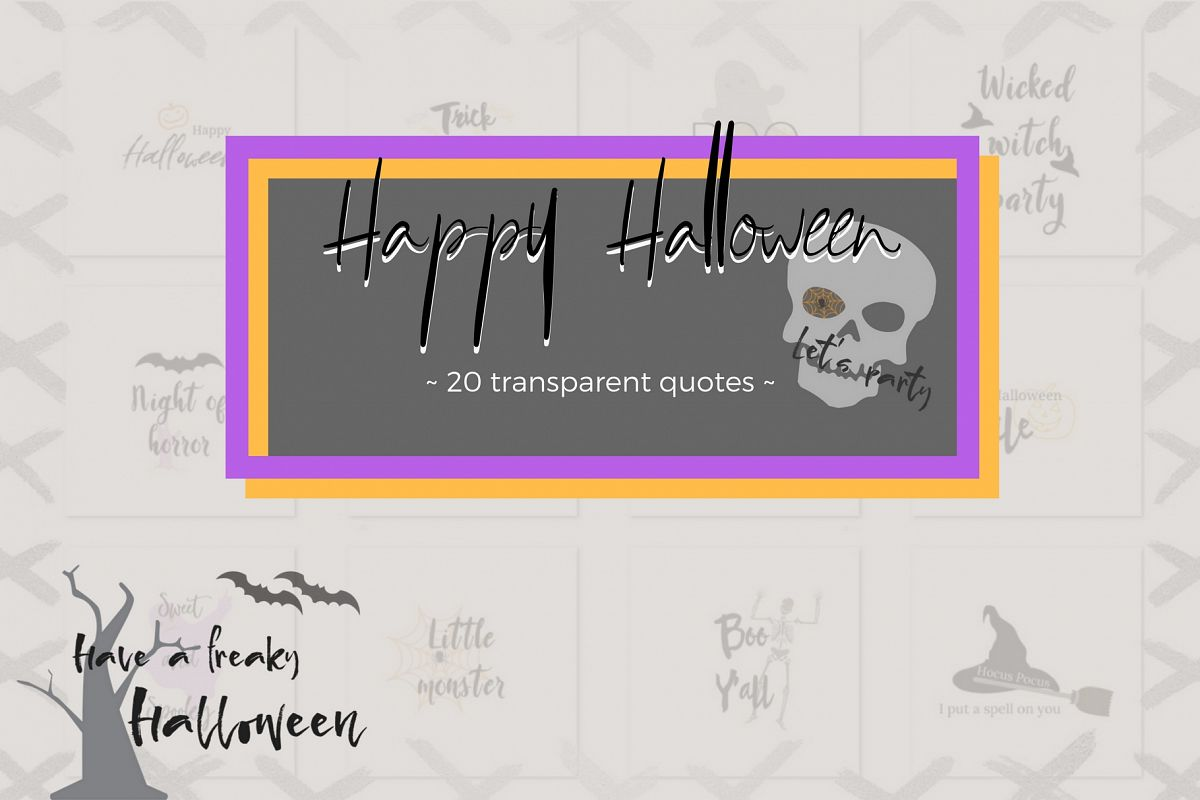20 Halloween lettering collection example image 1