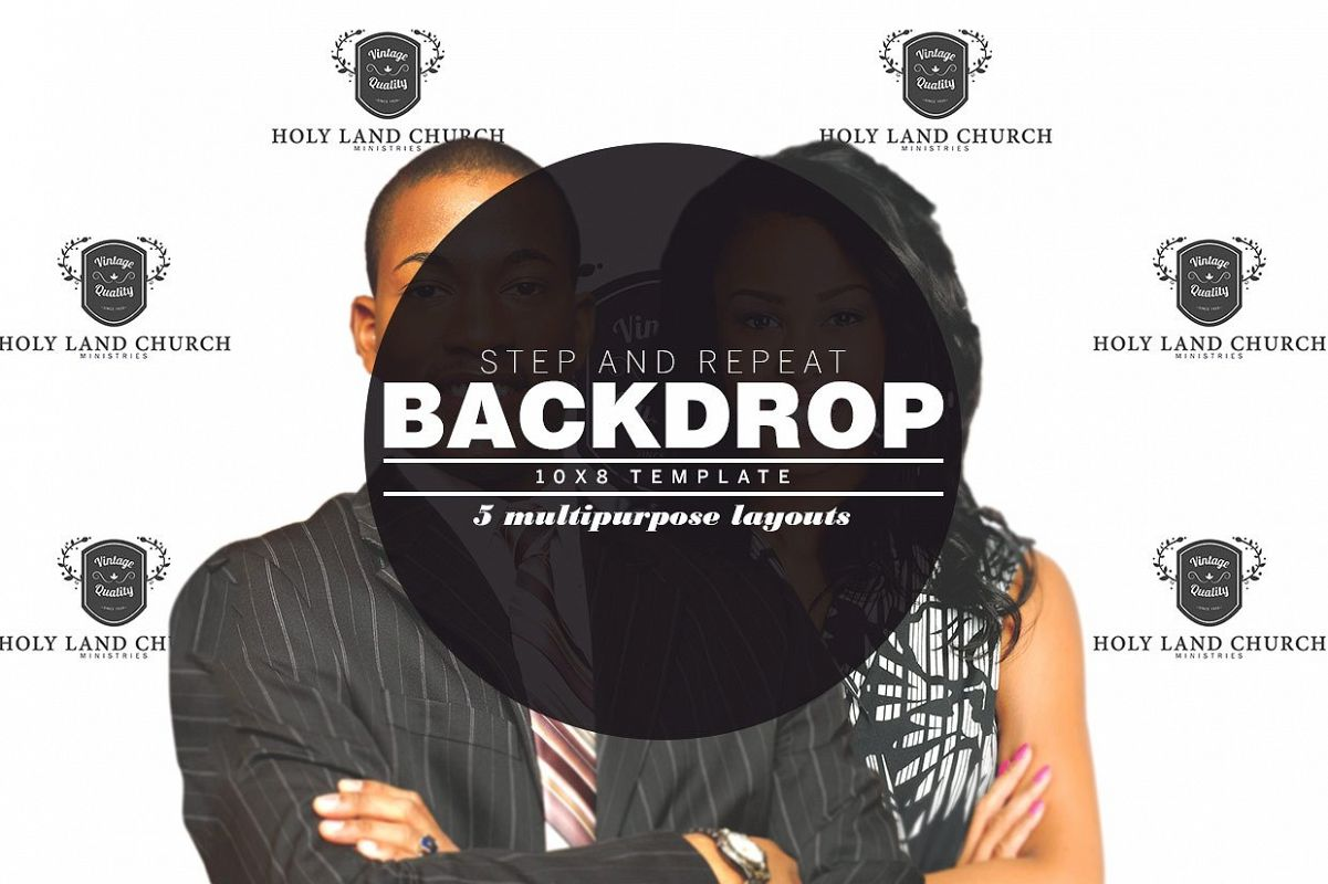 Step And Repeat Backdrop Photoshop Template Example Image 1