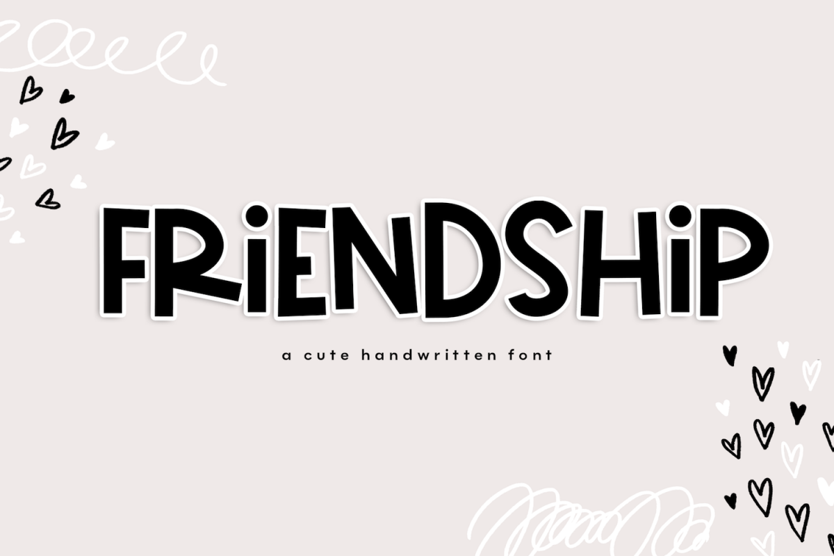 Friendship - A Bold & Cute Handwritten Font example image 1