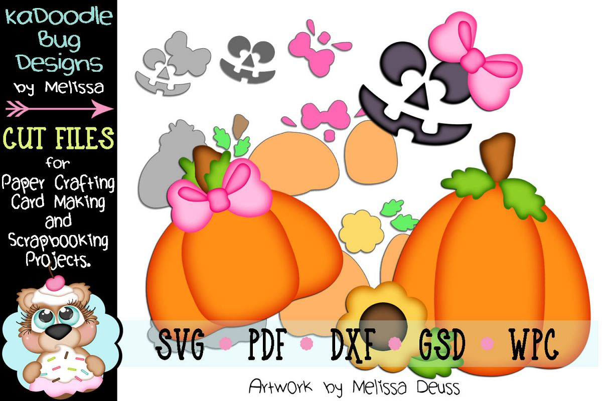 Girl Pumpkin Accessories Cut File - SVG PDF DXF GSD WPC example image 1